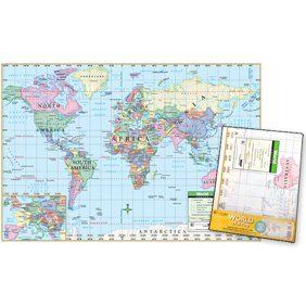Maps world map 2 poster poster print walmart universal map world poster sized wall fold map gumiabroncs Images