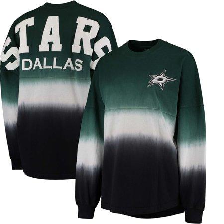 Dallas Stars Fanatics Branded Women's Ombre Spirit Jersey Long Sleeve Oversized T-Shirt - Green/Black