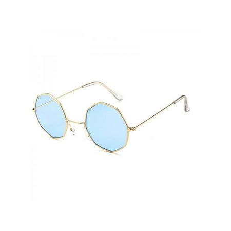 MAXSUN Transparent Ocean Lens Octagon Fashion Metallic (Oceano Sunglasses)