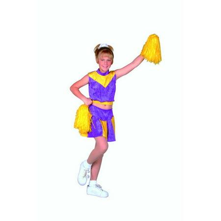 Purple/Yellow Cheerleader Costume - Cheerleader Supplies
