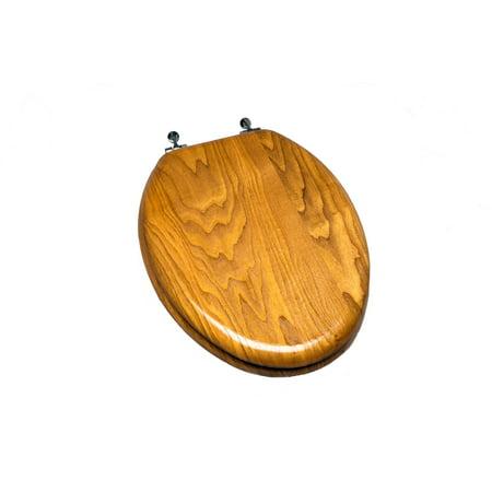 Fine Light Oak Wood Decorative Finish Elongated Toilet Seat With Single Post Chrome Hinge Forskolin Free Trial Chair Design Images Forskolin Free Trialorg