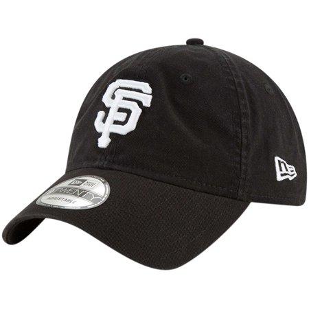 San Francisco Giants Classic Football - San Francisco Giants New Era Core Classic Twill 9TWENTY Adjustable Hat - Black - OSFA