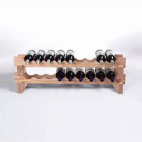 Wine Enthusiast 18-Bottle Stackable Natural Wine Rack Kit