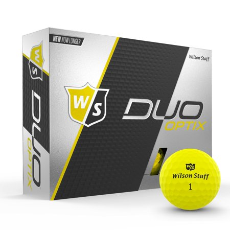 Wilson Staff Duo Soft Optix Golf Balls, Electric Glow Yellow, 12 pack - Glow In The Dark Golf Course