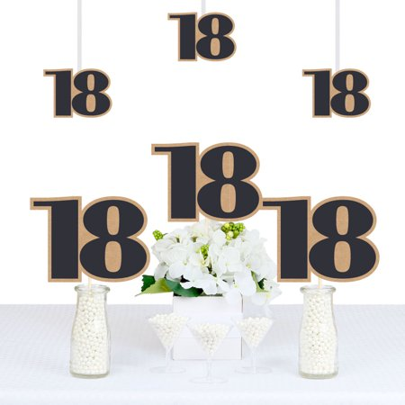 18th Milestone Birthday - Time To Adult - Decorations DIY Party Essentials - Set of 20 (18th Birthday Decoration)
