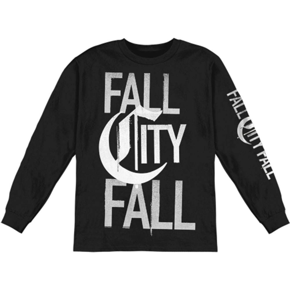 Fall City Fall Men's  Stand  Long Sleeve Black