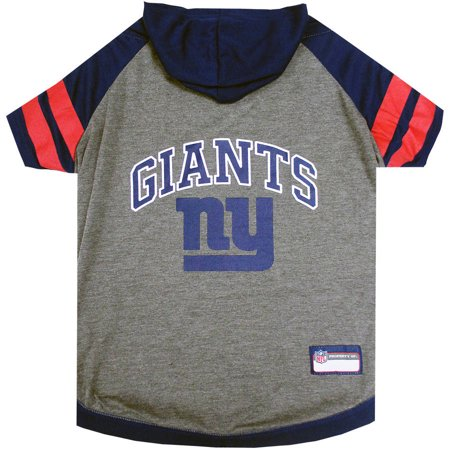 Pets First NFL New York Giants Pet Hoodie Tee Shirt