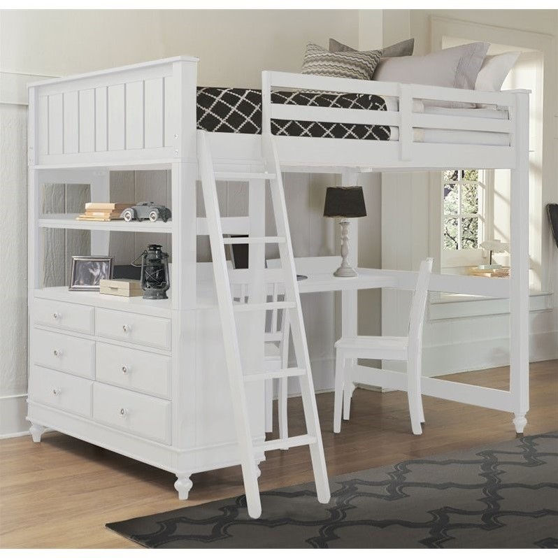nebraska furniture mart beds ne lake house loft bed with desk in white 16502
