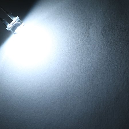 DC 3.2-3.4V 120-180mA Bright LED Lamp 8mm White Light Emitting Diodes 100pcs - image 2 de 3