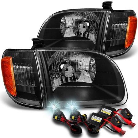 Fits 2000-2004 Toyota Tundra Regular | Access Cab [Black] Headlights+ 6000K HID