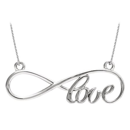 Lovebrightjewelry Extraordinary Love Infinity Design Necklace In 925 Sterling Silver Coolest Price Best Design