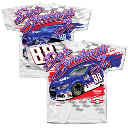 Dale Earnhardt Jr. Hendrick Motorsports Team Collection 2017 Darlington Total Print T-Shirt - White