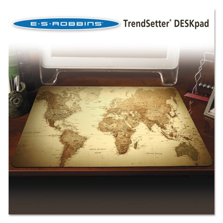 Es robbins trendsetter world map desk pad 24 x 19 golden walmart es robbins trendsetter world map desk pad 24 x 19 golden gumiabroncs Choice Image