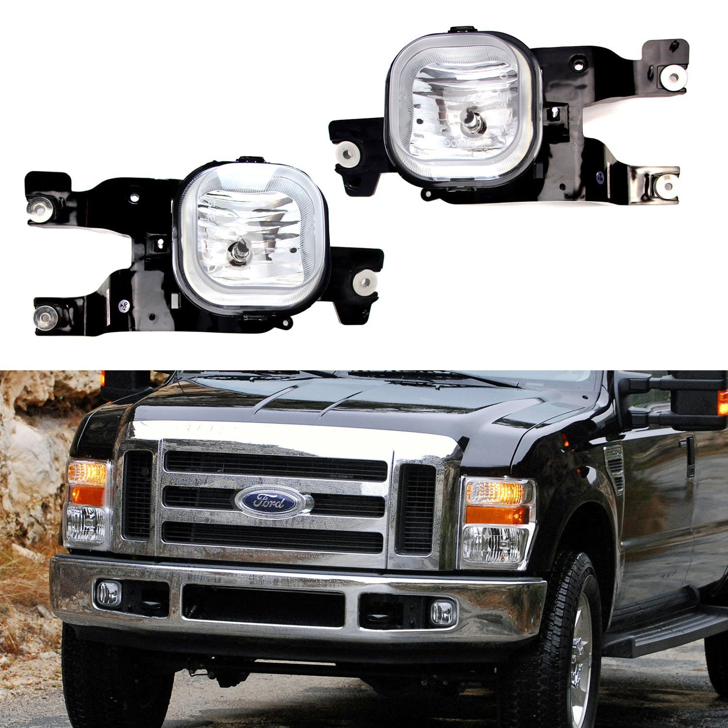 2008 F350 Fog Light Wiring Diagram Diagrams Ijdmtoy Complete Set Lights Foglamp Kit With Halogen Door Schematics