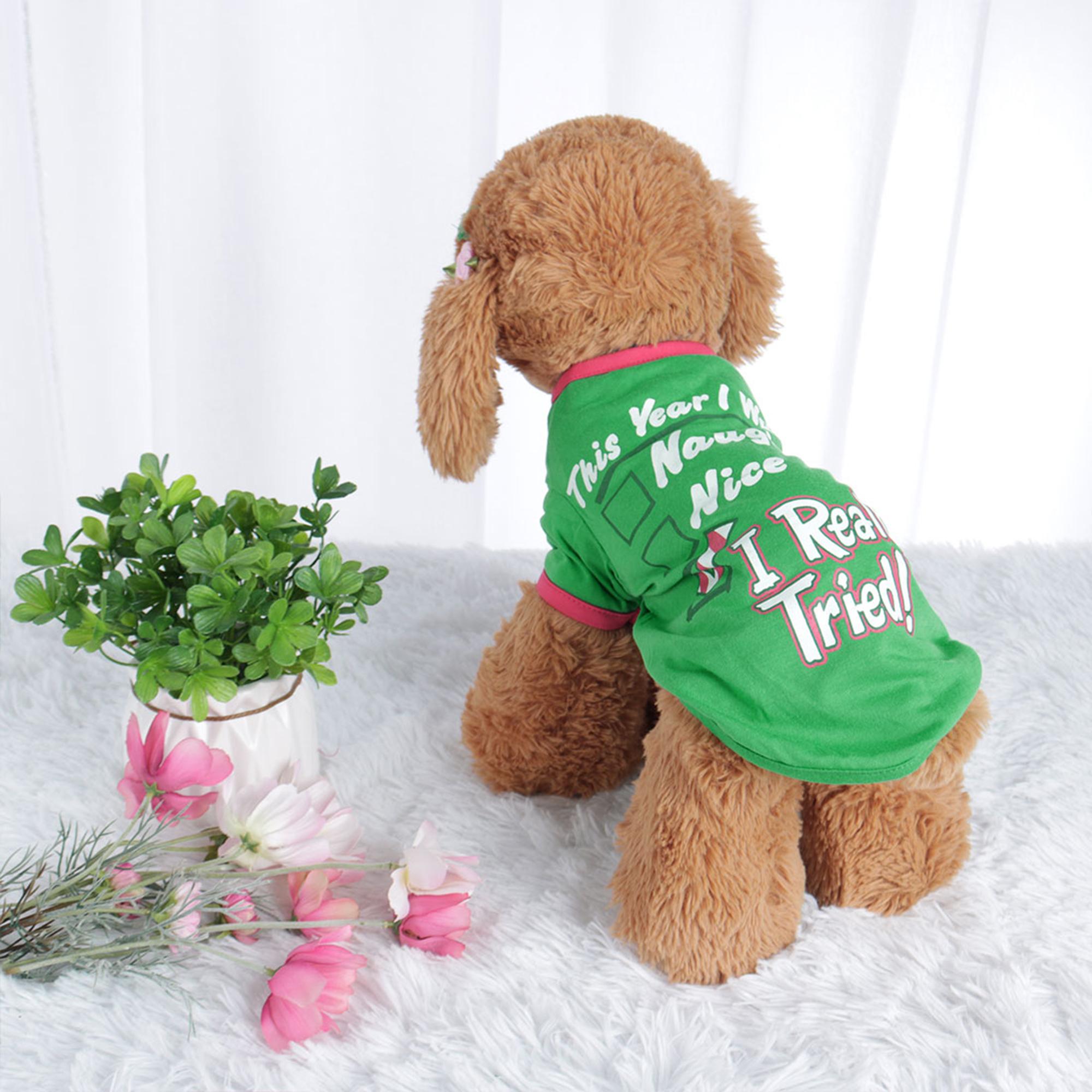 Dog T Shirt Puppy Small Pet Sweatshirt Tops Clothes Apparel Vest Costume #2, L - image 7 of 7