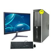 HP Compaq Pro 6300 Tower High performance Desktop with Tecnii 20 inch Monitor with HDMI Intel Core i5 3470 8GB RAM 250GB HDD DVD Windows 10 Professional WiFi A Grade