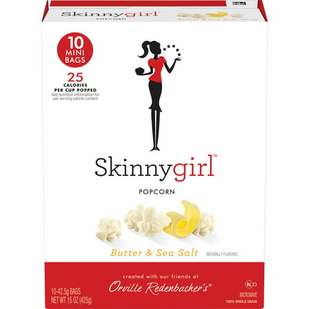 3 Way Popcorn Gift Tin - (3 Pack) Orville Redenbacher's Skinnygirl Microwave Popcorn, Butter & Sea Salt , 1.5 Oz, 10 Ct