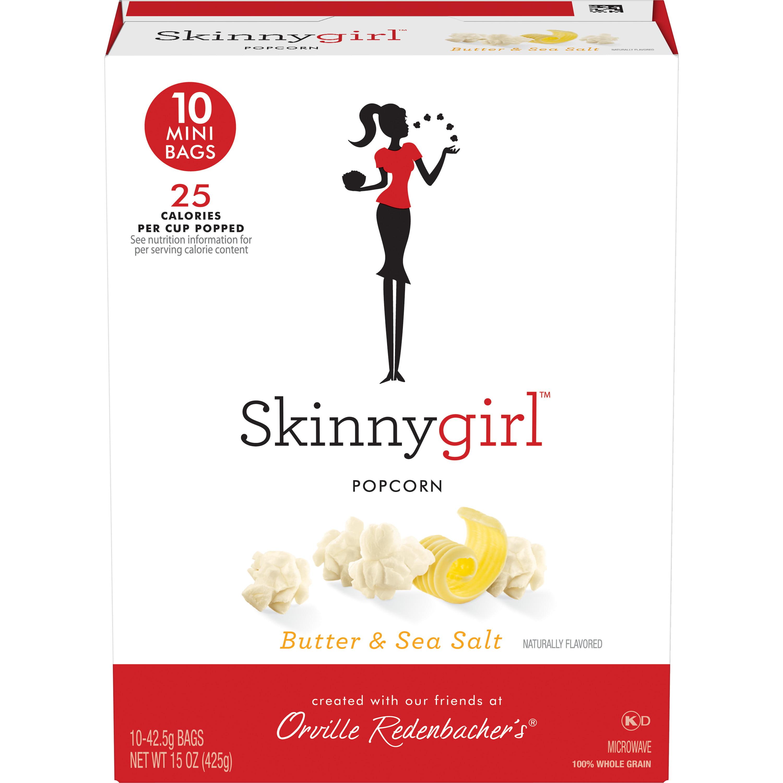 (3 Pack) Orville Redenbacher's Skinnygirl Microwave Popcorn, Butter & Sea Salt , 1.5 Oz, 10 Ct