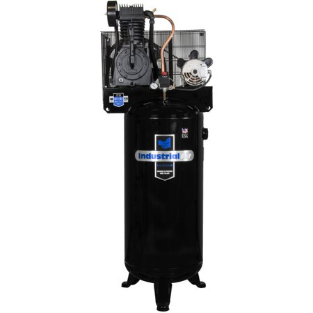 Industrial air iv5076055 5 hp 60 gallon two stage air for Air compressor motor starter