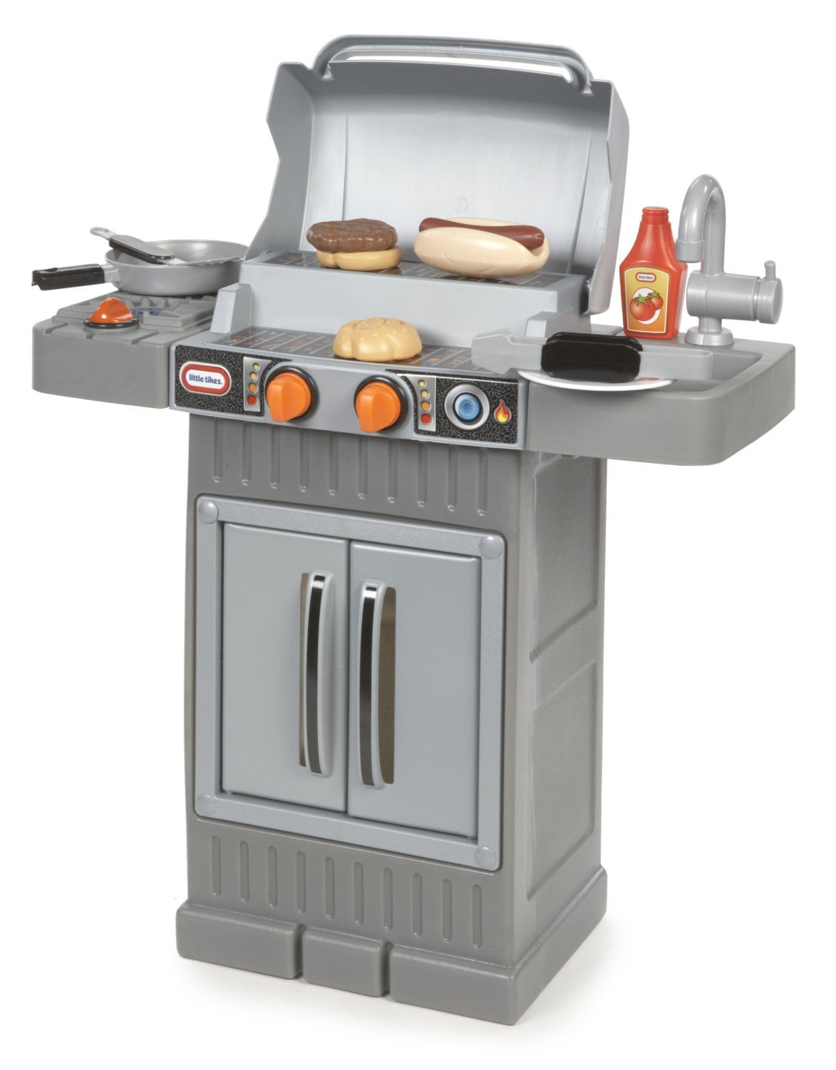 Little Tikes Cook N Grow Bbq Grill With Cooking Accessories And Play Food Walmart Com Walmart Com