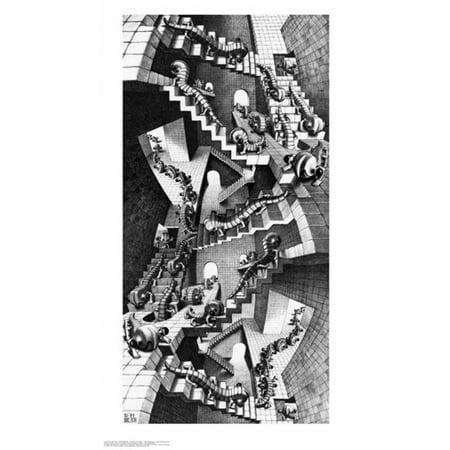 House of Stairs - MC Escher Poster Poster Print (Mc Escher Poster)