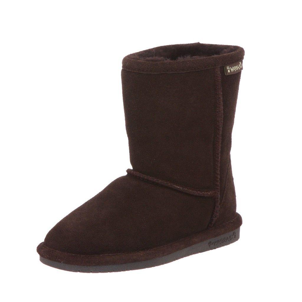 Bearpaw Boots Girls Emma Pull on Stylish Suede Wool 608Y