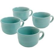 Mainstays Aqua Rainforest 24-Ounce Latte Mugs, Set of 4