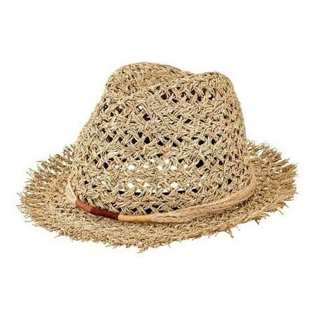 Women s San Diego Hat Company Open Weave Seagrass Fedora SGF2017 ... 8777e5babbb6
