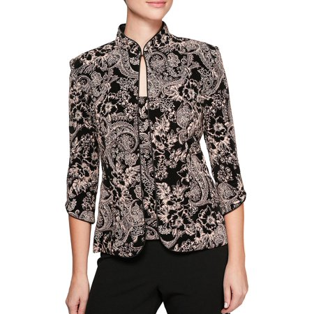 Alex Evenings Sleeveless - Two-Piece Embroidered Jacket and Scoopneck Camisole Twinset