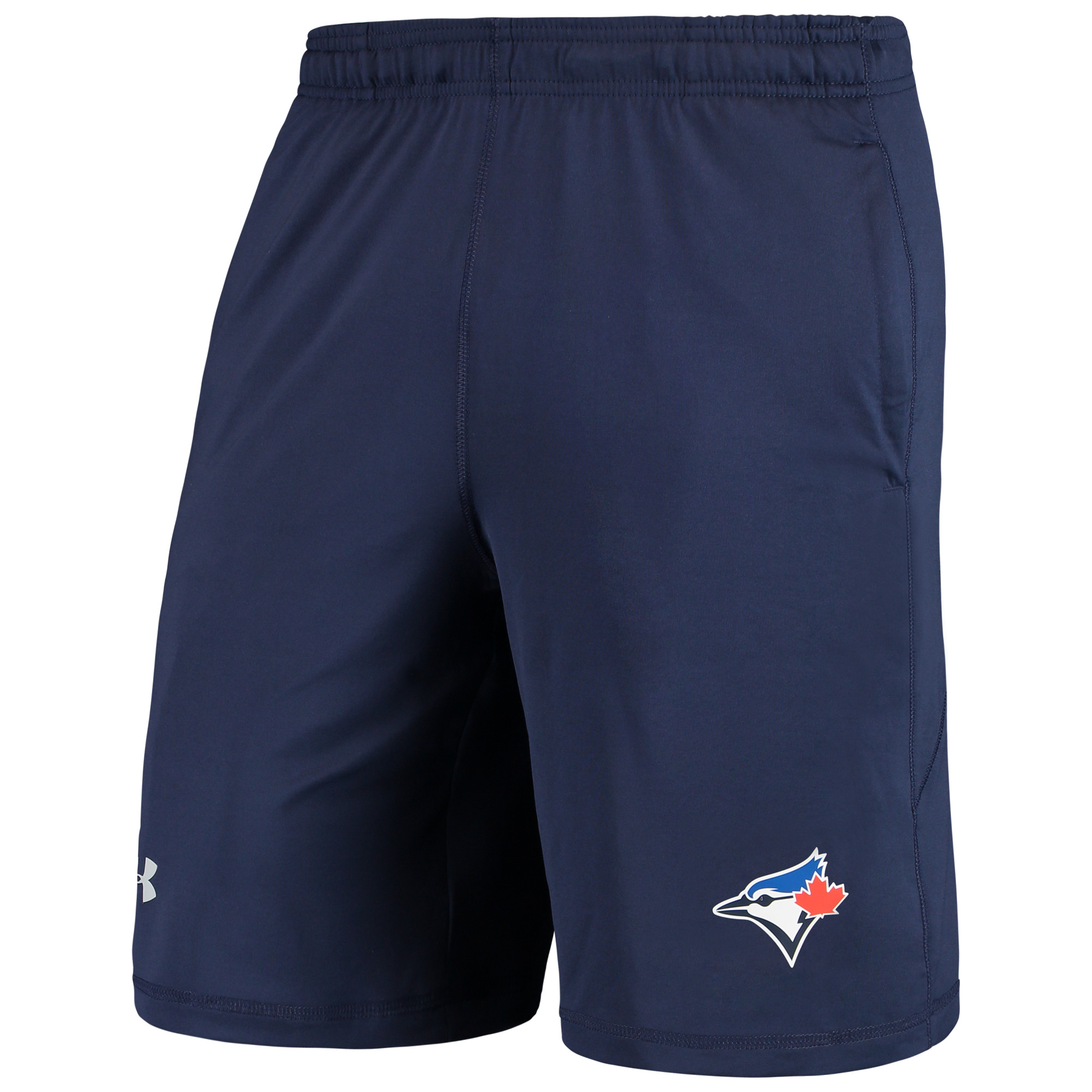 Toronto Blue Jays Under Armour Raid Left Leg Performance Shorts - Navy