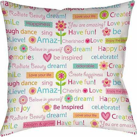 IDG Happy Day Words Indoor Pillow](Diy Pillows)
