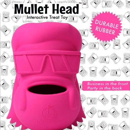 Lord Anson Mullet Head Interactive Dog Toy - Treat Dispensing Dog Puzzle Toy - Pet Chew Toy for Separation Anxiety, Boredom, and Fetch