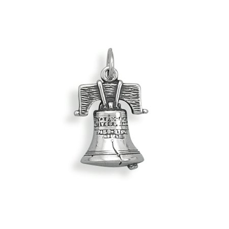 Liberty Bell Charm Sterling Silver