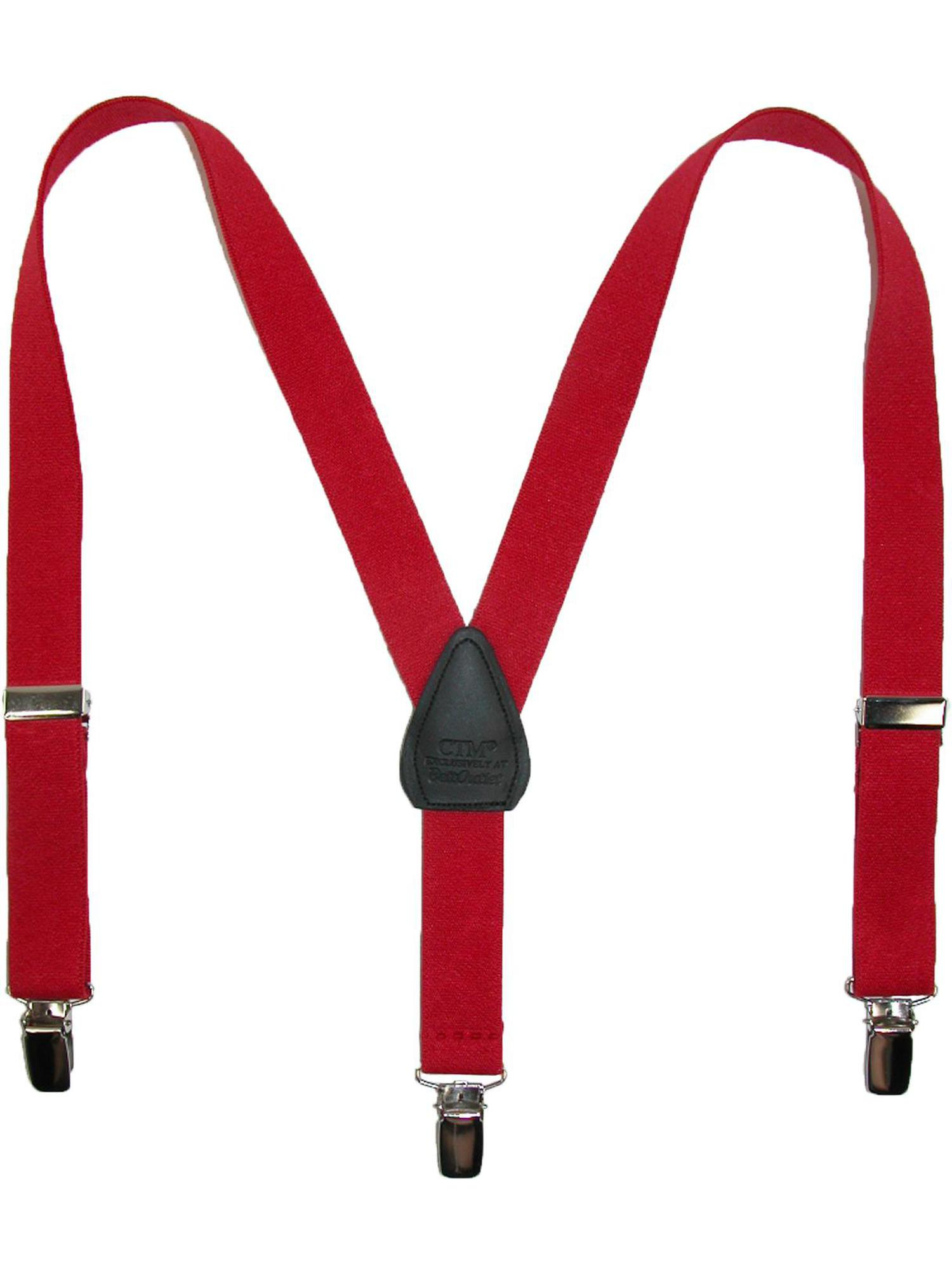 Infants' Elastic Solid Color Y-Back Clip-End Suspenders