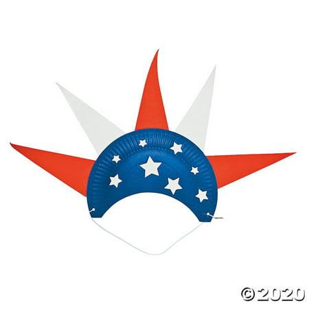Paper Plate Patriotic Hat Craft -
