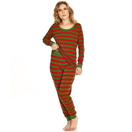 0dea7131d1 Leveret - Leveret Women Fitted Striped 2 Piece Pajama Set 100 ...
