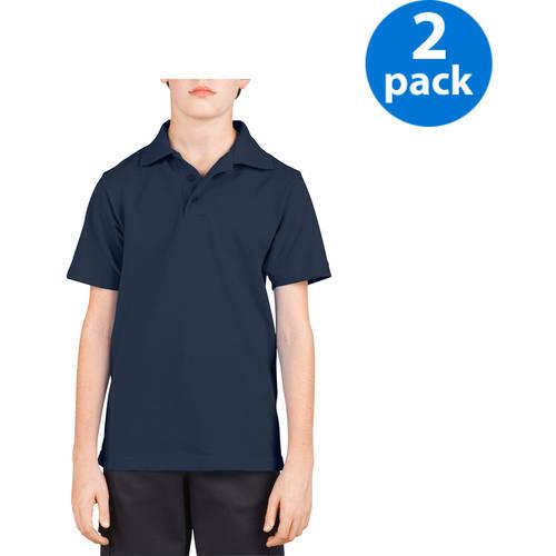 Dickies Boys Short-Sleeve Polo Shirt, 2-Pack Value Bundle