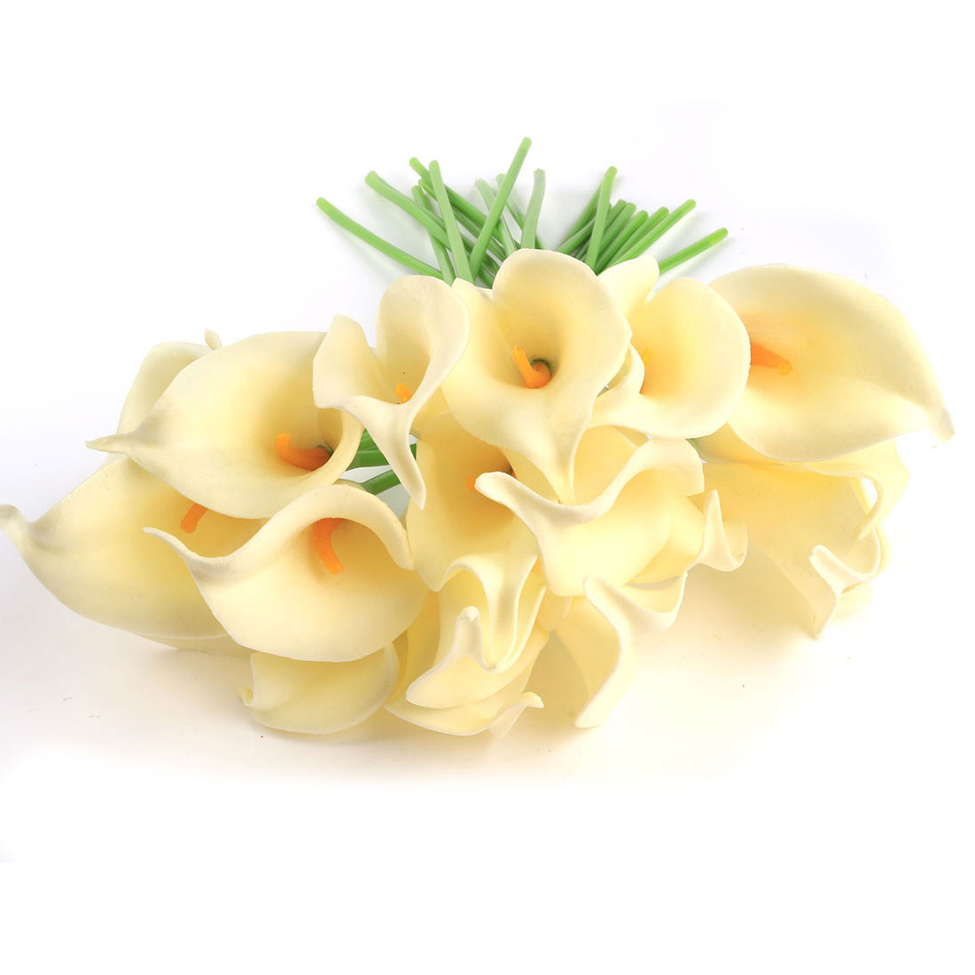 20 Pcs Calla Lily Bridal Wedding  Bouquets Party Decor Bouquet Latex Touch Artificial Flower