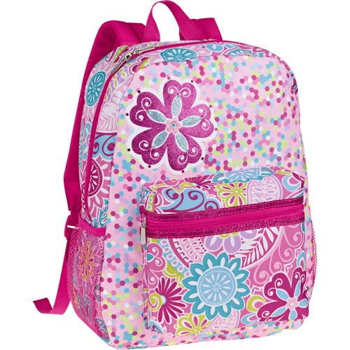 """Light-up Flower 16"""" Backpack"""