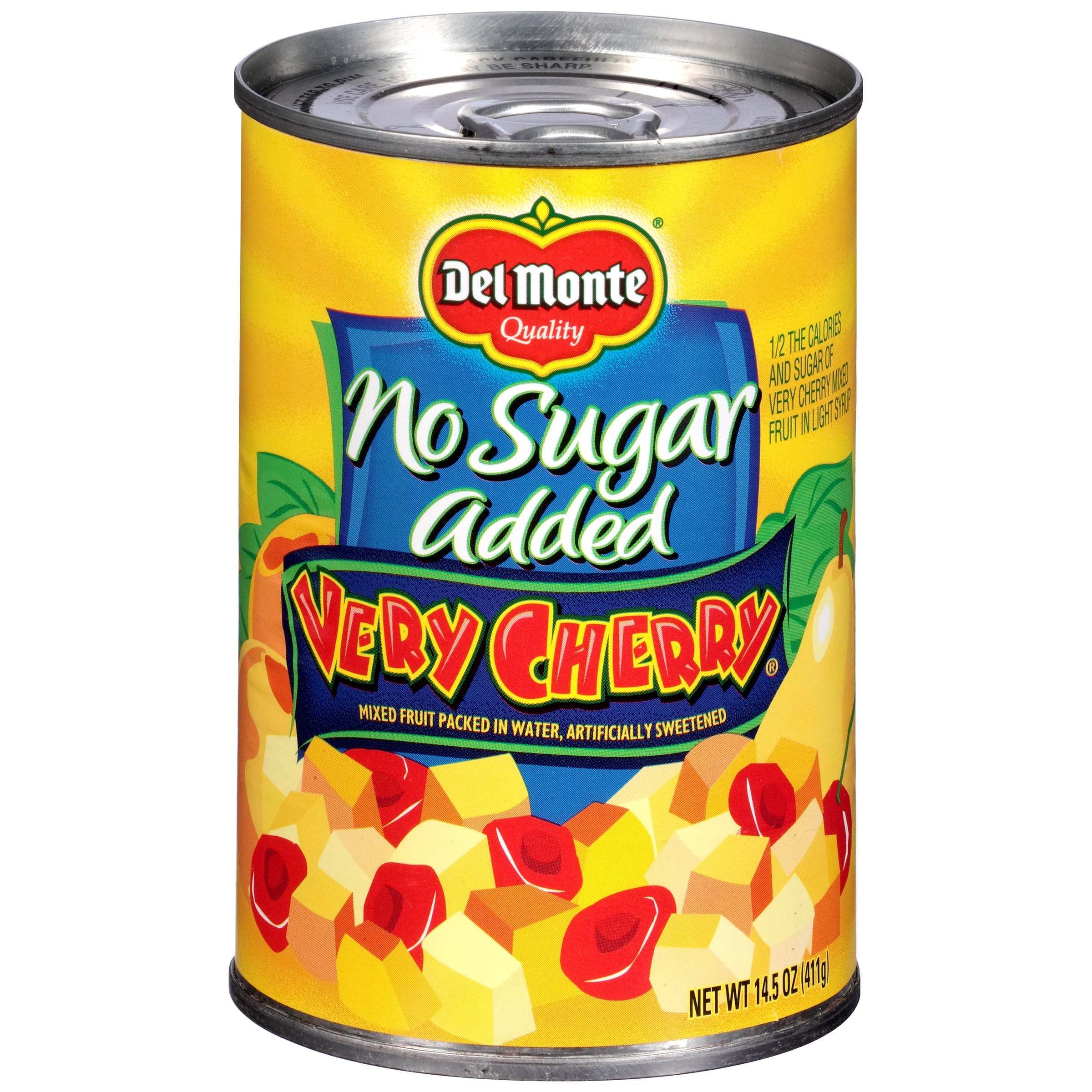 Del Monte No Sugar Added Very Cherry Mixed Fruit, 14.5 oz by Del Monte Foods