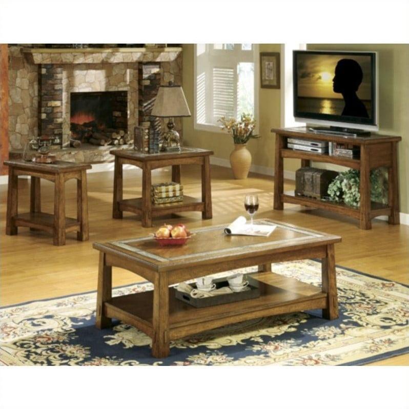 Riverside Furniture Riverside Craftsman Home 4 Piece Tabl...