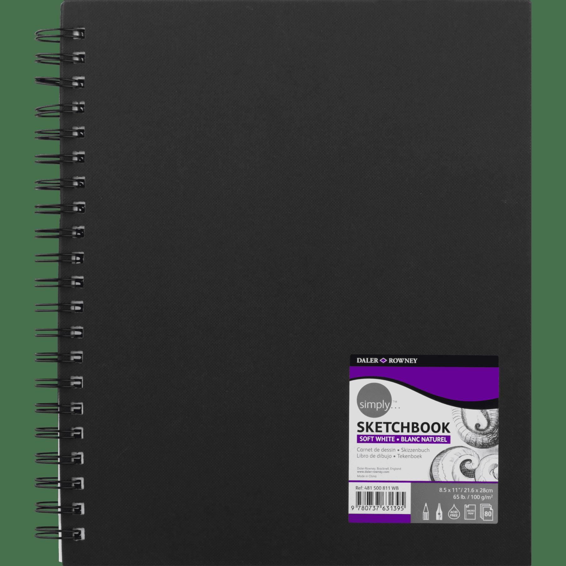 Daler Rowney Simply Wire Bound Sketchbook 8 5 X 11 Soft White Pages 65 Lb 80 Sheet Walmart Com Walmart Com