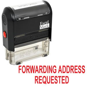 FORWARDING ADDRESS REQUESTED Self Inking Rubber Stamp - Red Ink (42A1539WEB-R)