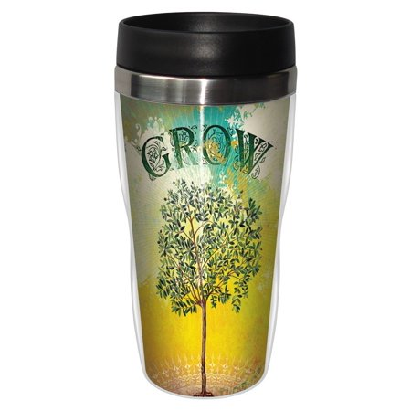Tree Free Greetings 25595 Angi And Silas Tree Grow Sip N Go Stainless Lined Travel Mug  16 Ounce