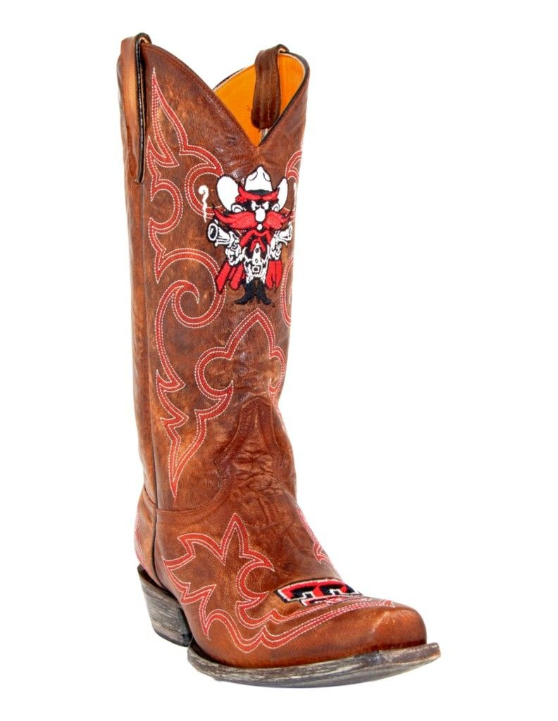 Gameday Boots Mens College Texas Tech Masked Riders Brass TT-M028-2 by Gameday Boots