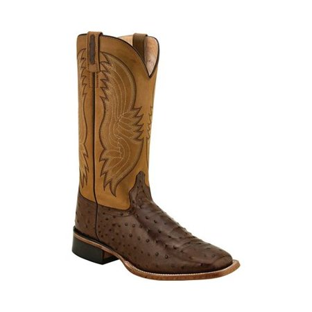 Men's Old West Faux Ostrich Print Western Boot