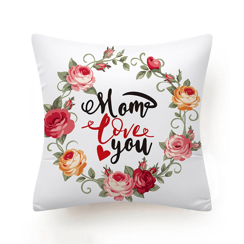 Faux Suede Square Pillow Mom Throw Pillow Custom Cushion Gift for Mom from Daughter or Son