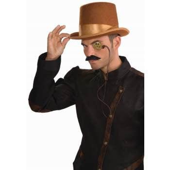 STEAMPUNK BRWN BELL TOPPER - Mens Steampunk Top Hat