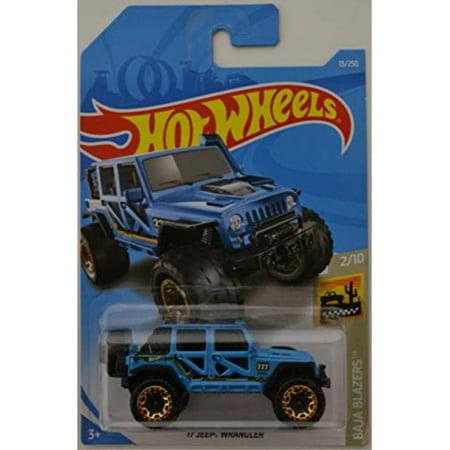 Hot Wheels 2019 Baja Blazers '17 Jeep Wrangler 13/250, Blue (Baja Bug Hot Wheels)