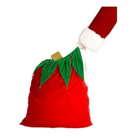 Velvet Santa Bag With Bells (Santa Bell)